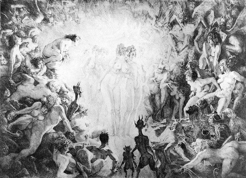 Visitors to Hell by Norman Lindsay. My first valuable print purchase.