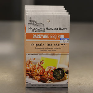 Halladay's Harvest Barn of Vermont Chipotle Lime Shrimp Backyard BBQ Rub