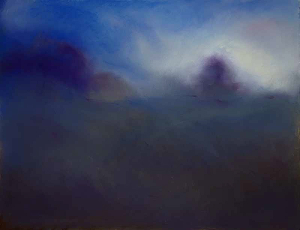 """Blue Cotswold, England , pastel on board, 16"""" x 20"""""""