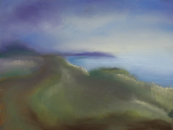 "Corfu II , pastel on board, 9"" x 12"""