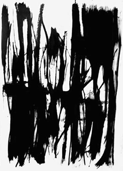 Sumac , oil bar on hot press Fabriano paper, 4' x 8'