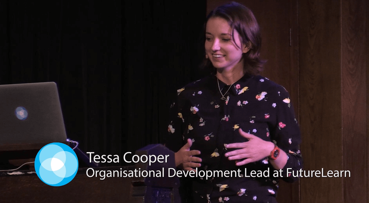 """Failure is yours, success is the team's - """"Tessa gave an insightful, human-centred session about difficult topic that needs to be discussed more. Her slides were great, her tone was spot on and the audience really engaged with her."""
