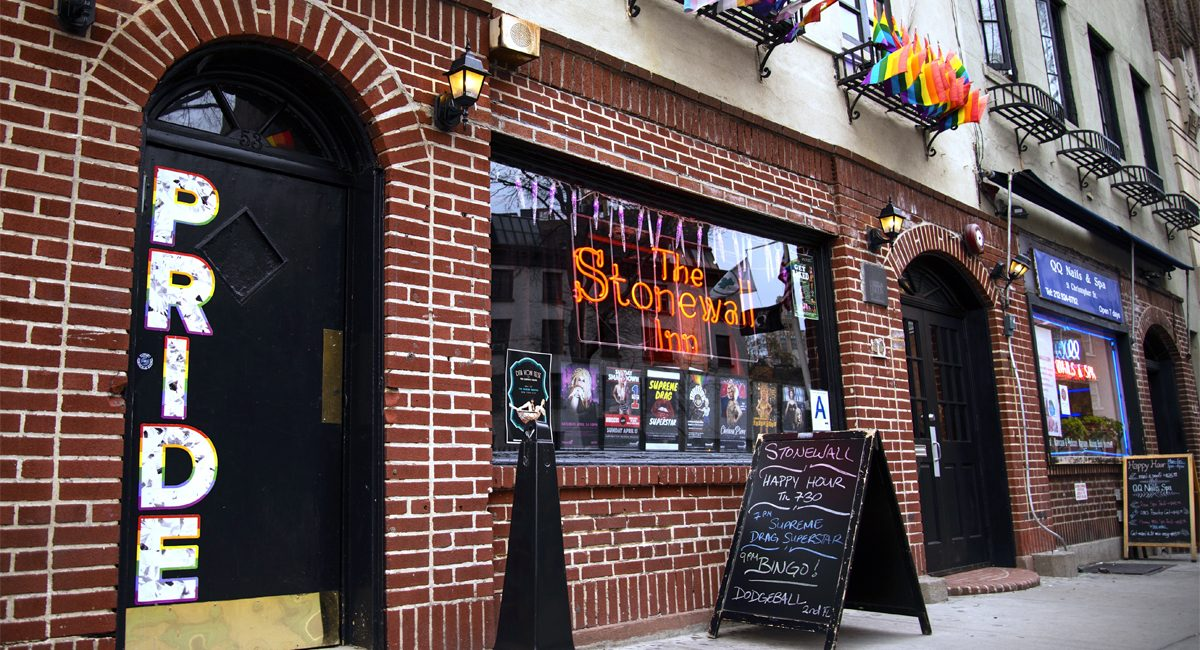Stonewall Inn in 2019. Picture credit to  New York by Rail .
