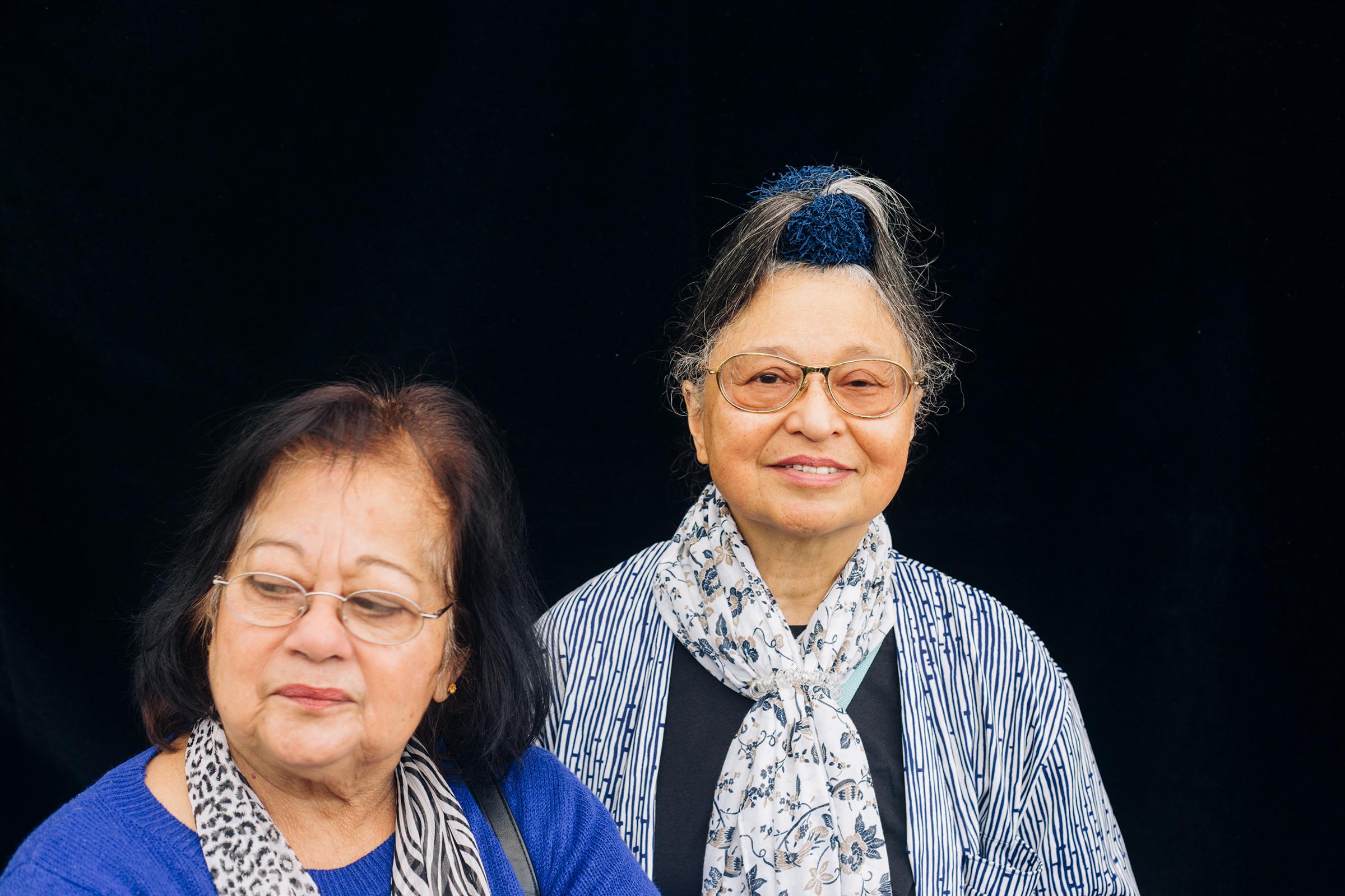 Lize & Silvia. Deelnemers theatergroep De Eigenwijzen.