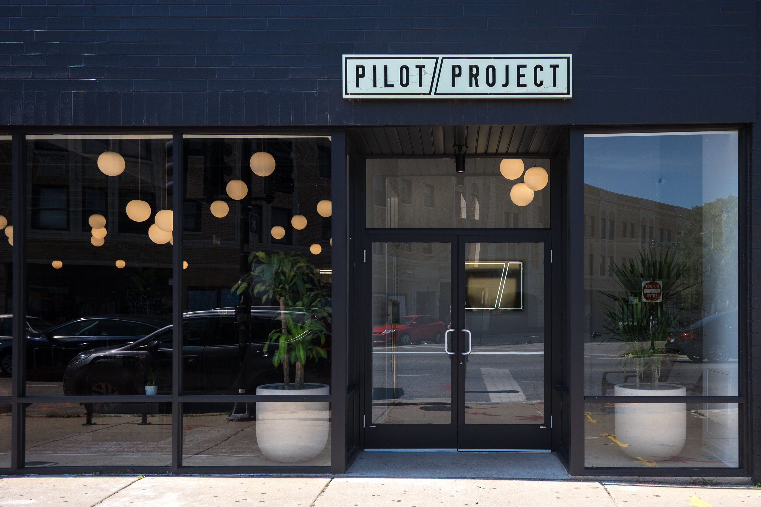 Pilot Project Brewing located on Milwaukee Ave. in Chicago's Logan Square neighborhood.