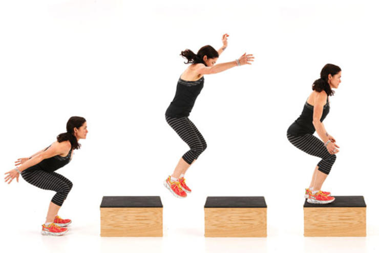 Jumping exercise helps to lose weight and build up stamina