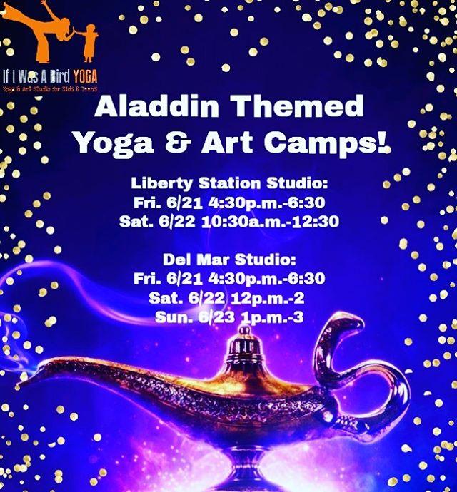 Join us for Aladdin Yoga & Art! 🧞♂️ www.ifiwasabirdyoga.com