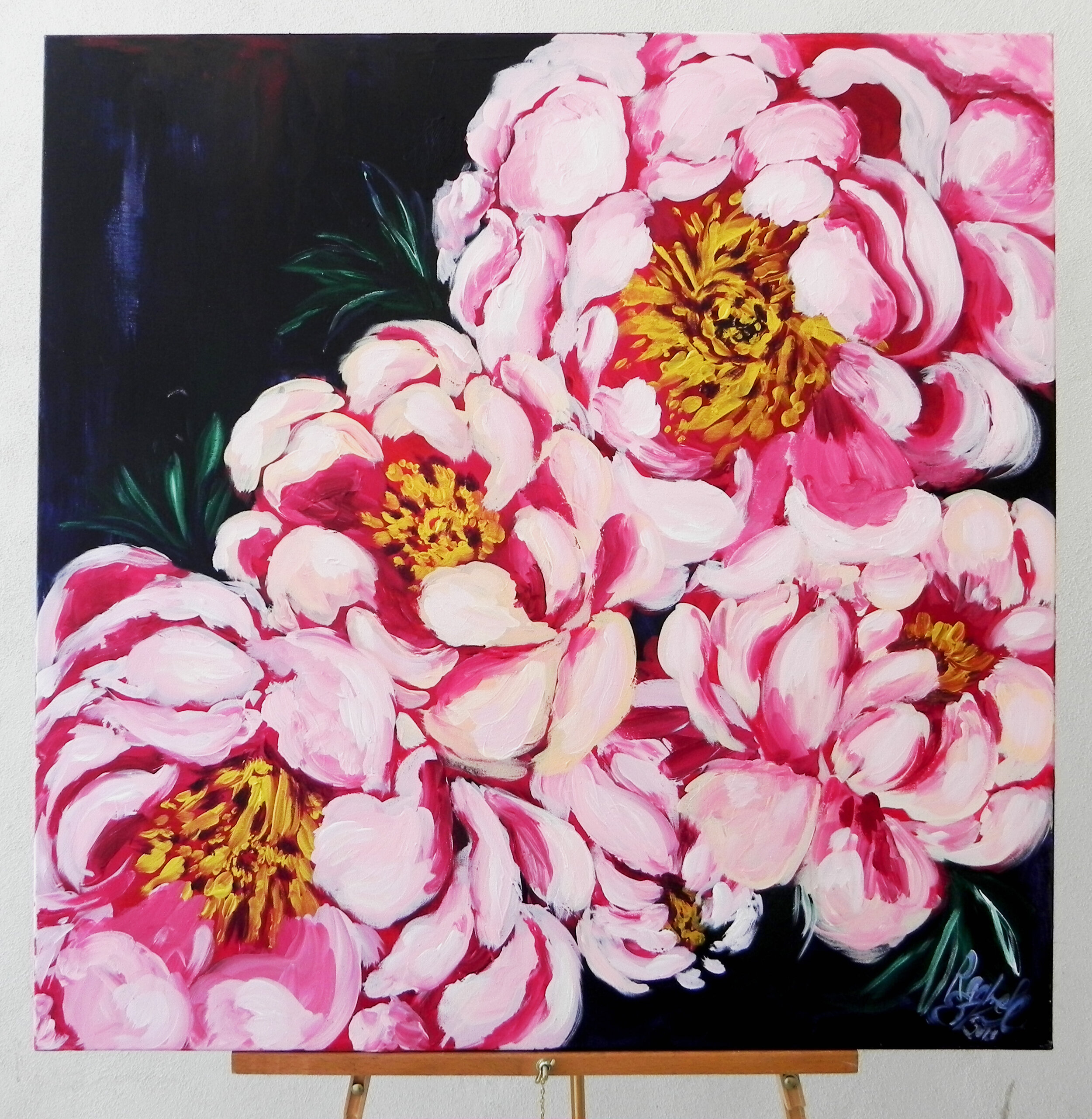 """Peonies Please"" Acrylic on Canvas 36x36"" $425"
