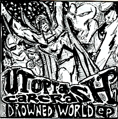 "Utopia Carcrash ""Drowned World"" EP CDR damaged noise rock by old band $6"
