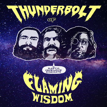 "Plastic Crimewave Syndicate-- ""Thunderbolt of Flaming Wisdom"" LP on UK Cardinal Fuzz label, out of print, last copies! $25"