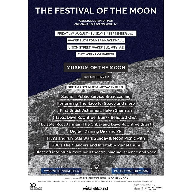 We've been working on some creative programming & booking for Wakefield Council focussed on their exciting and ambitious Festival of the Moon!  For more information about the event and our work on it follow the link in our page bio.  #moonfestwakefield