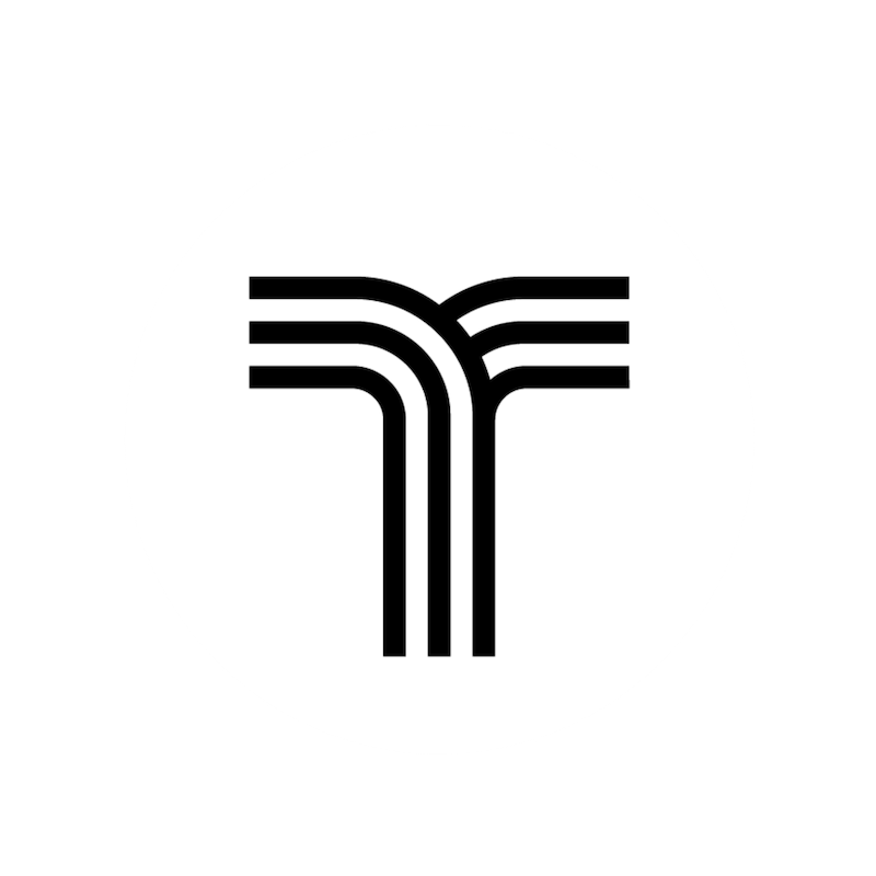 White Circle w black T - web logo.png