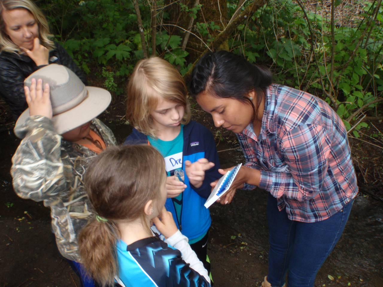 """""""As a native Spanish-speaker I love having the opportunity to use my language and culture in conjunction with my background in education and ecology. This project is a combination of everything that I think is important. It has been very special to see how excited kids are to have us in the classroom, they call us the """"bird experts"""" and the teachers tell us how much they look forward to us coming. I also hearing how much the kids have learned, for example they are very good at saying """"Black-throated Gray Warbler!"""" or """"Chipe Negrogris!"""" which is kind of a mouthful! I also thought it was really special to see how many birds we share with Mexico!""""   -Dionne Mejia, Institute for Applied Ecology"""