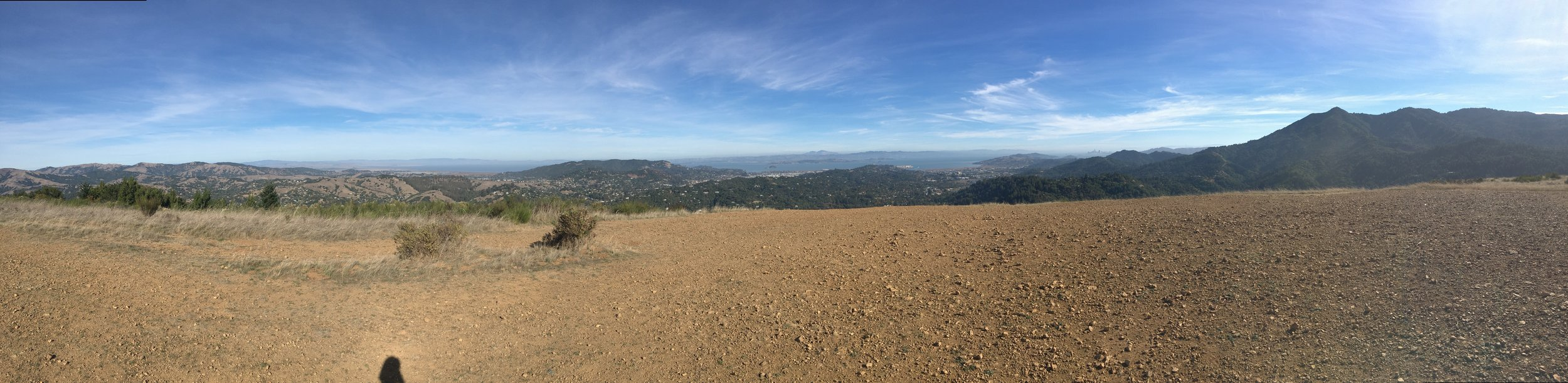 The top of Bald Hill overlooking Mount Tamalpais, where Eric Ryan and Ricky Chilcott decided that they would partner on Mission Met.