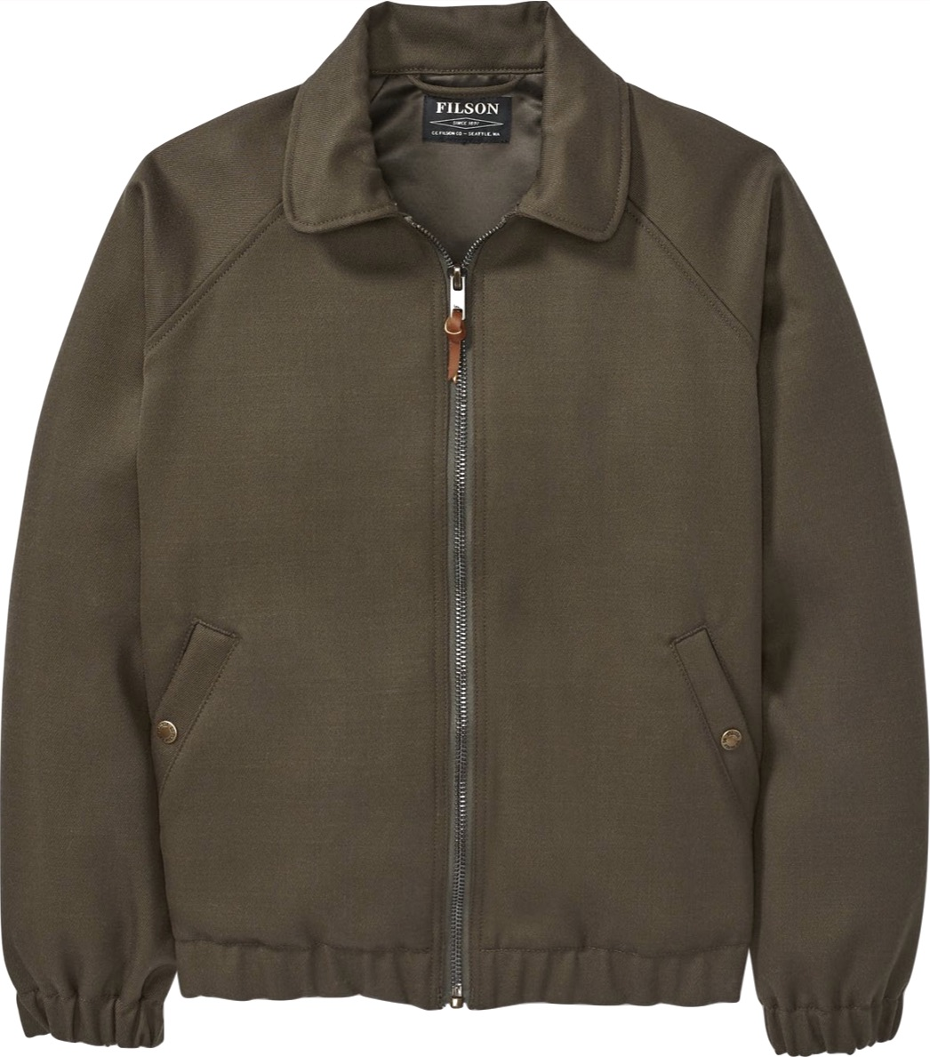 Wool Whipcord Bomber