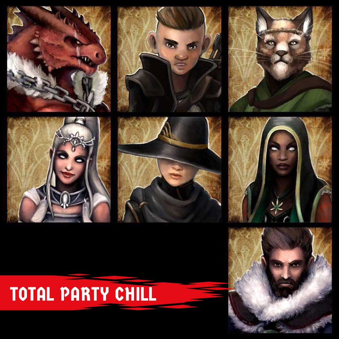 Join us Sunday - Tune in at 5pm pacific and check out Total Party Chill.