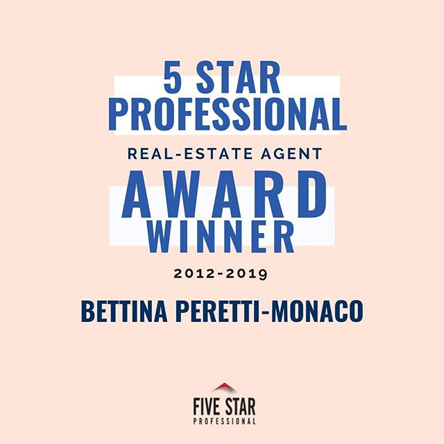 "The 5 Star Professional Award is no small feat! In my 20 years of experience I am proud to say I have been awarded this honor for eight years in a row (since 2012!). Some of you outside of the real-estate world might ask- ""What is this?"" - so I made it a little clearer as to why this is such a big deal to me in these slides! But in short, I am chosen through a lot of user research and by no means is this the type of award you pay for - I was only able to get this after my first 12 years of hard work and experience - phew! If you want to learn more about this award - there is a link in my bio about it or just swipe through here! ⁣ .⁣ .⁣ .⁣ #thankful #njrealestate #northjersey #bergencounty #hudsoncounty #passaiccounty #5staraward #realestate #realtor #home #property #luxury #househunting #realestateagent"