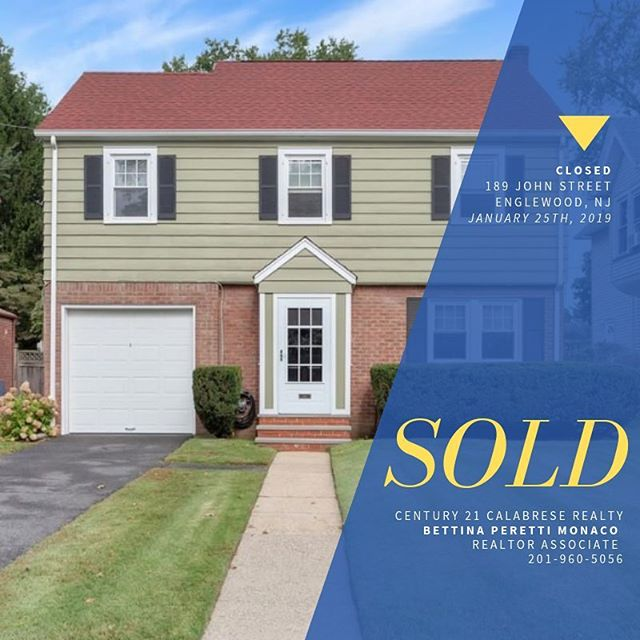 #TBT to the first house that was sold this year. It was in Englewood, NJ - not too far from where I used to drive my daughter to school each morning 😊. This was for a repeat client and I was so happy to help her sell her home (here) and find her a new one. It's so wonderful to be able to continue to help families find the home that is right for them at different stages of their lives and needs. It's the best part of my job. The picture in the second slide is us at our signing, there were all smiles, chocolates, flowers, and this lovely review from Claudia. ⁣ ⁣