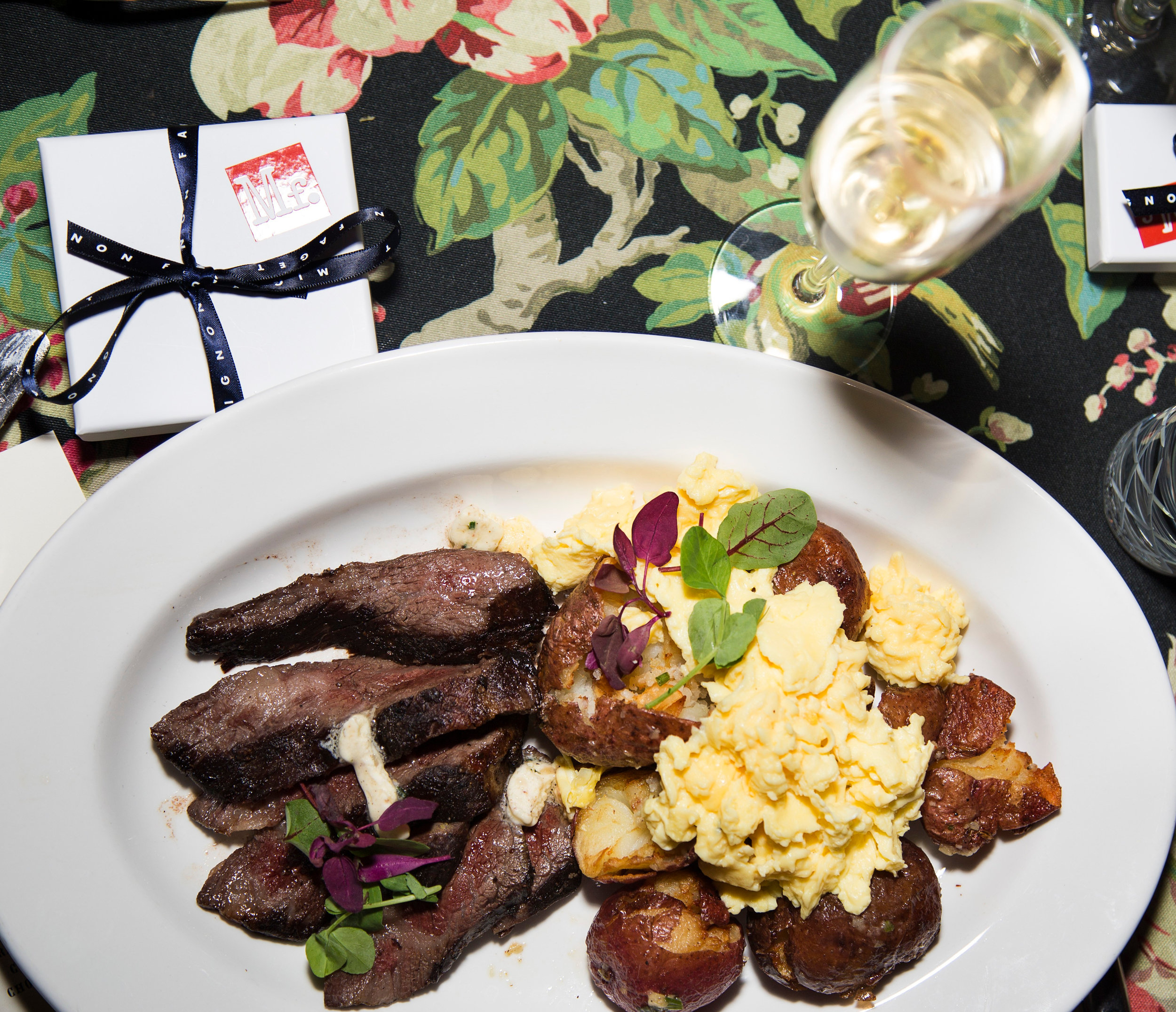 Steak + Scrambled Eggs with Crispy Potatoes