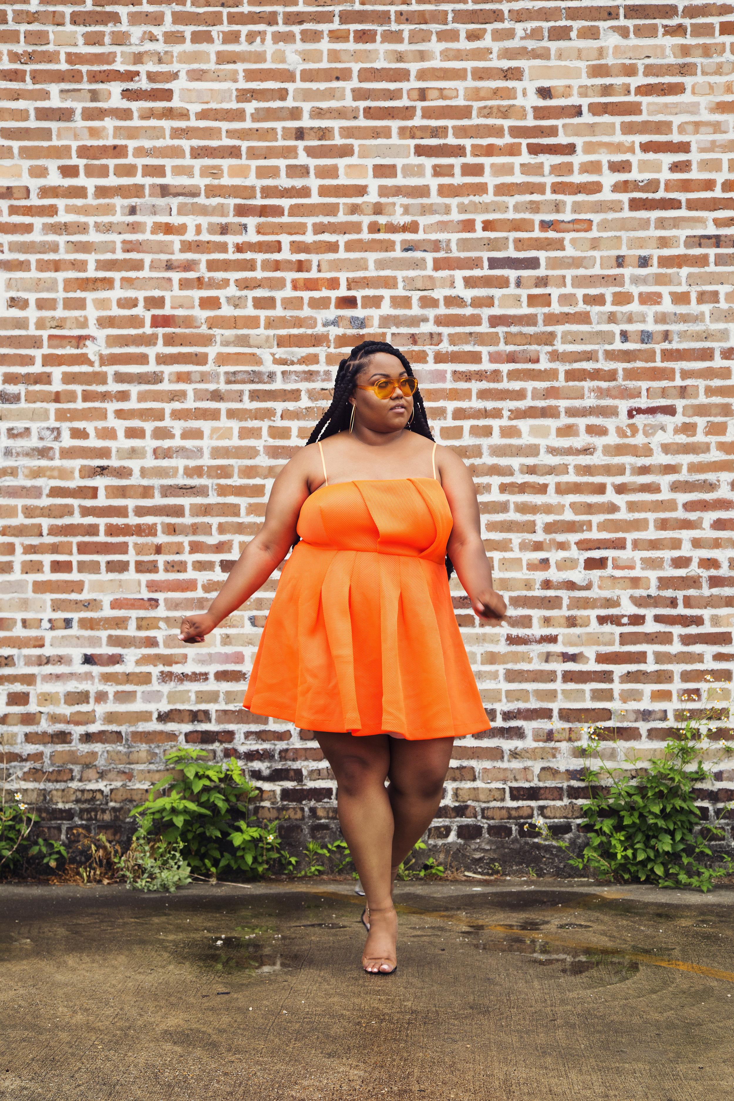 Plus Size Summer Looks Orange Dress