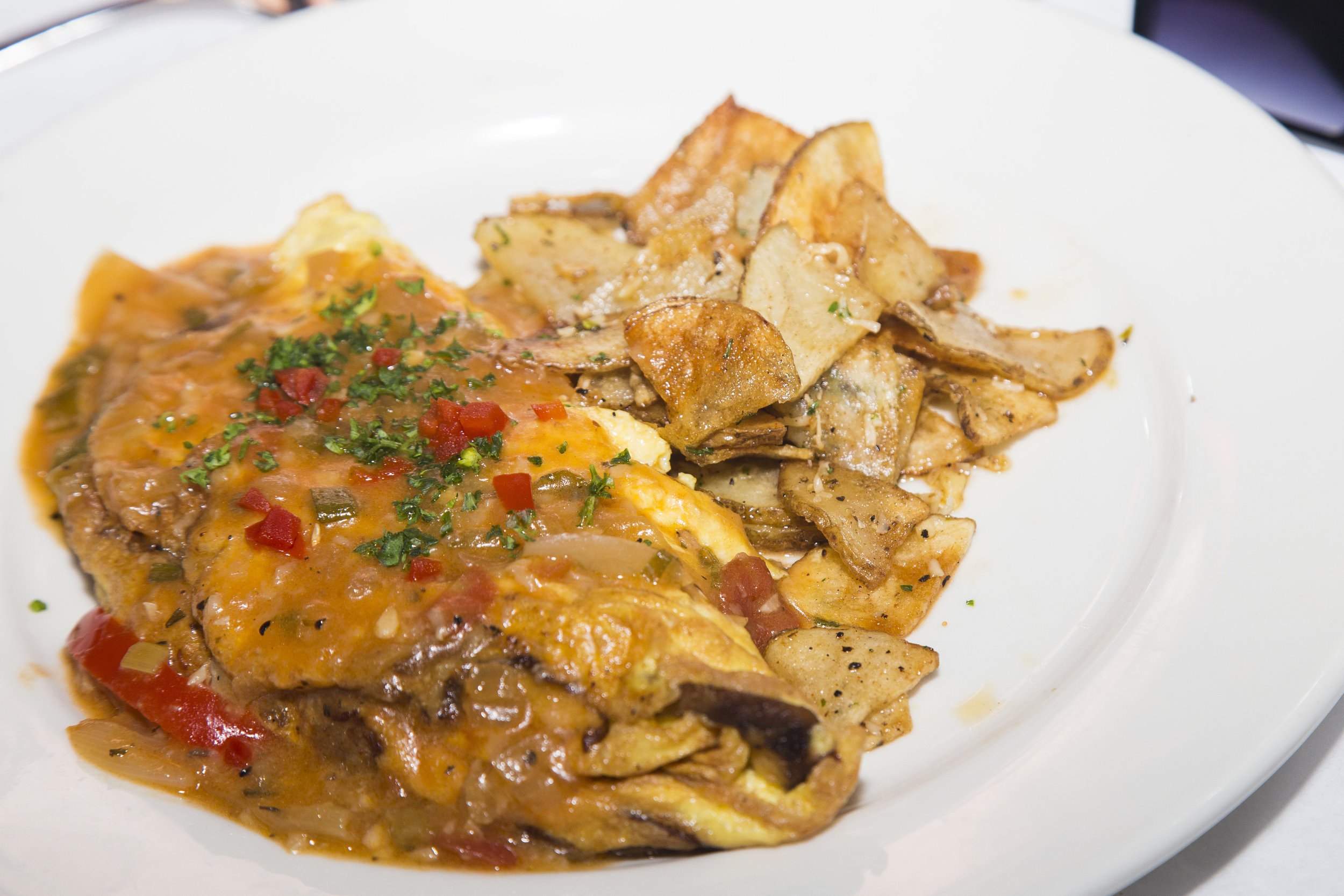 Cafe Sbisa Crawfish & Andouille Omelette