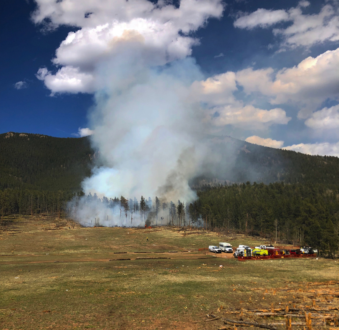 shooting range wildland fire