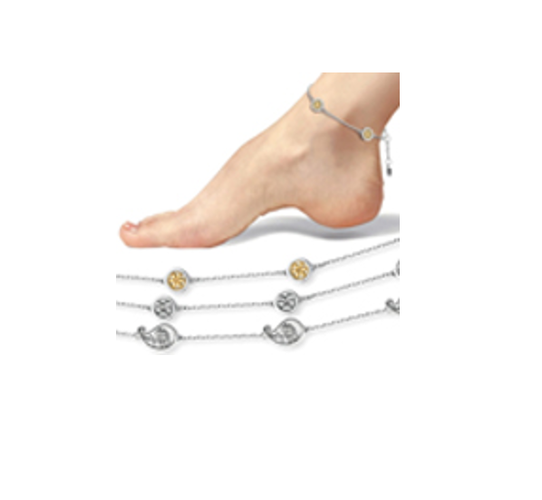 MAGNETIC ANKLETS - FROM £20 - The Stainless Steel Anklets captivate with an elegant design in an incredibly beautiful look. Perfect for all jewellery lovers! Whether on kids or adults they are definitely an eye-catcher.