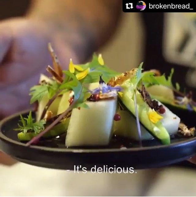 "Favorite Dish: @weiserfamilyfarms melon and @jimenezfamilyfarm ""jackrabbit"" cecina salad - It's the FUTURE of melon & prosciutto for SoCal, y'all!! @brokenbread_ TONIGHT at 8:30PT @kcet @tastemade"