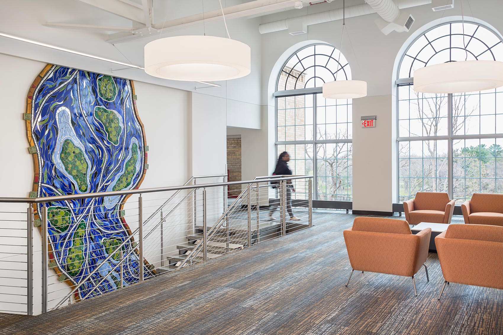"St. Cloud State University (distance) Atrium: ""Mississippi River Renewal"""