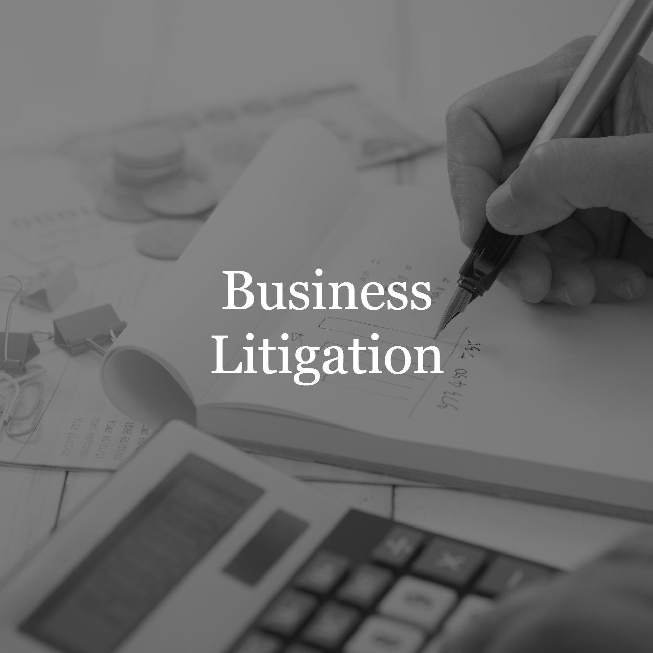 Business Litigation - Having trouble with your business partners or investors? Our creative team of attorneys are well seasoned in commercial and business litigation.