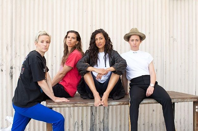 Congrats to the women's USA 🇺🇸 soccer team for winning gold! And congrats on the launch of re-inc. Re-inc is a purposeful lifestyle brand founded by Christen Press, Megan Rapinoe, Meghan Klingenberg, and Tobin Heath creating customizable fashion products and experiences for people looking for bold self-expression and non-binary design.