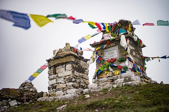 Day 7: trekked though villages and a memorial site dedicated to climbers who lost their lives climbing Everest. Ended the day at 17,000+ ft.