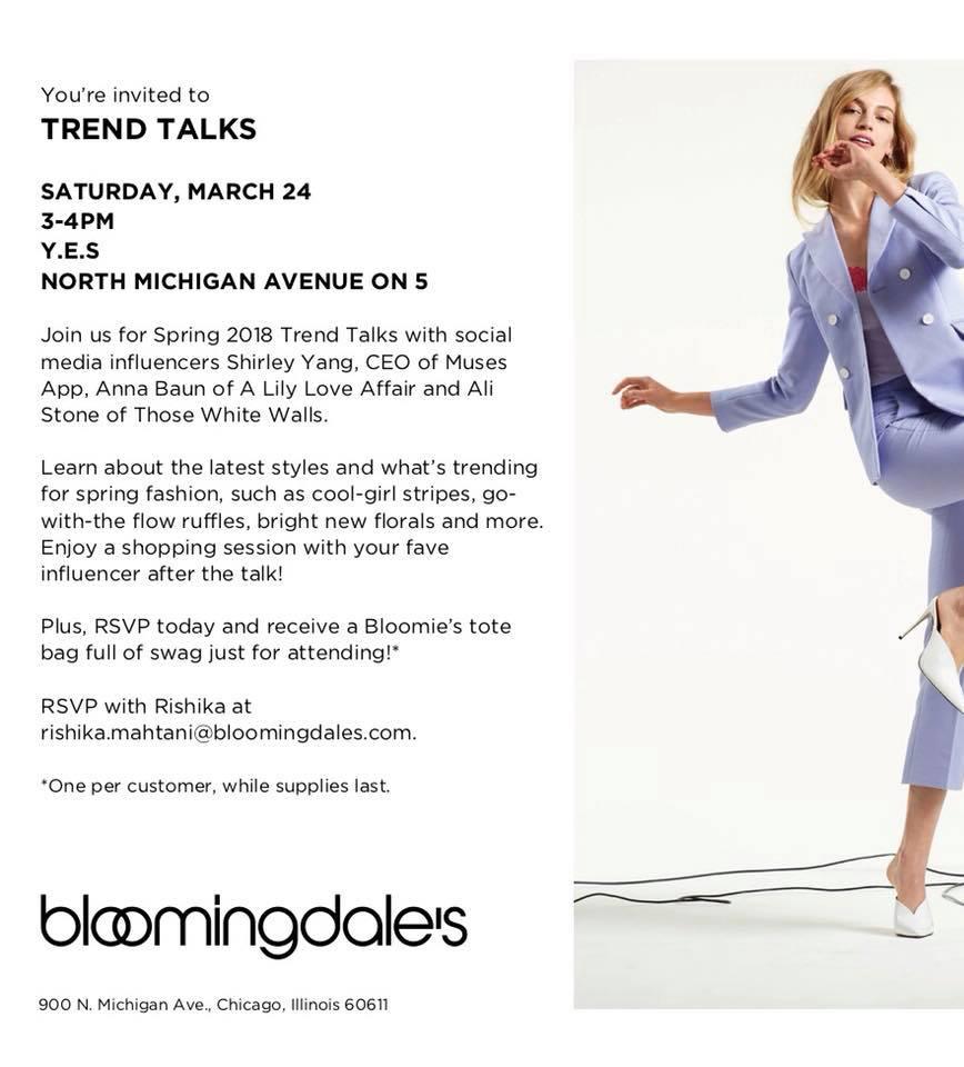 Bloomingdales Trend Talks