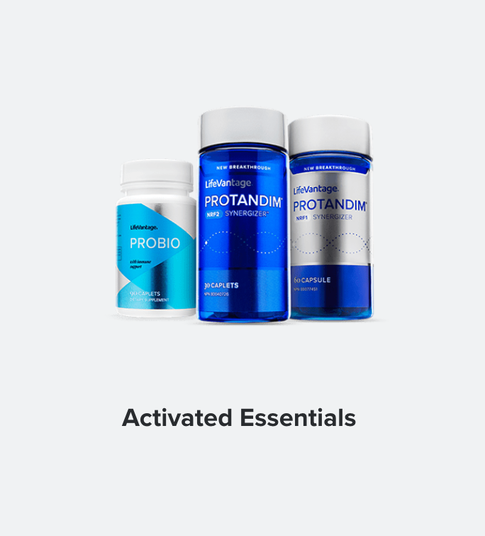 Activated Essentials is a simple, three-part bundle designed to help you get the most out of your health without stocking an entire supplement store in your cabinet. There are 3 different Probiotics that have been developed, each caters to a different market according to different laws.   BUY IN: USA, CANADA, NZ, AUSTRALIA