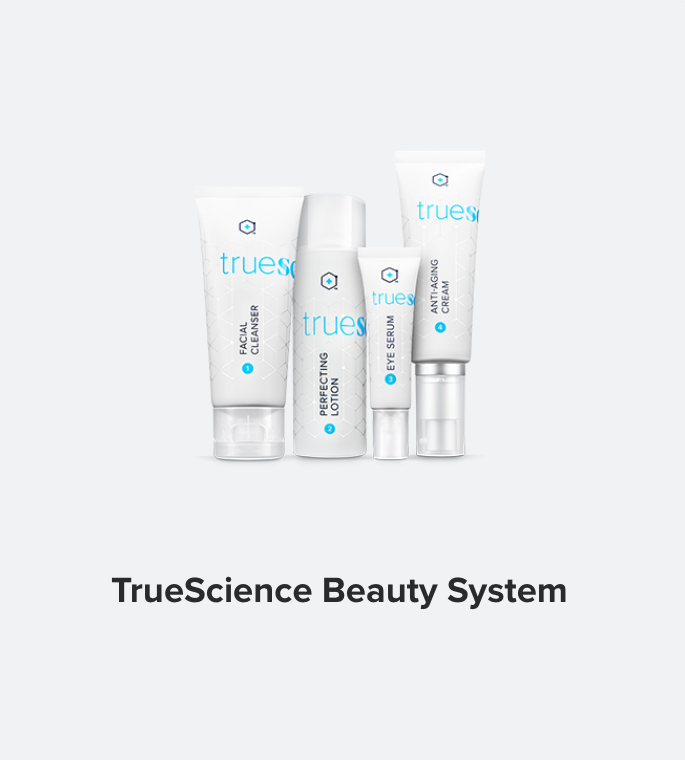 Meet the skin care regimen scientifically formulated with Nrf2 technology to create healthy, vibrant and beautiful looking skin from the inside out. TrueScience Facial Cleanser, Perfecting Lotion, Eye Serum, Anti-aging Cream   BUY IN ALL COUNTRIES