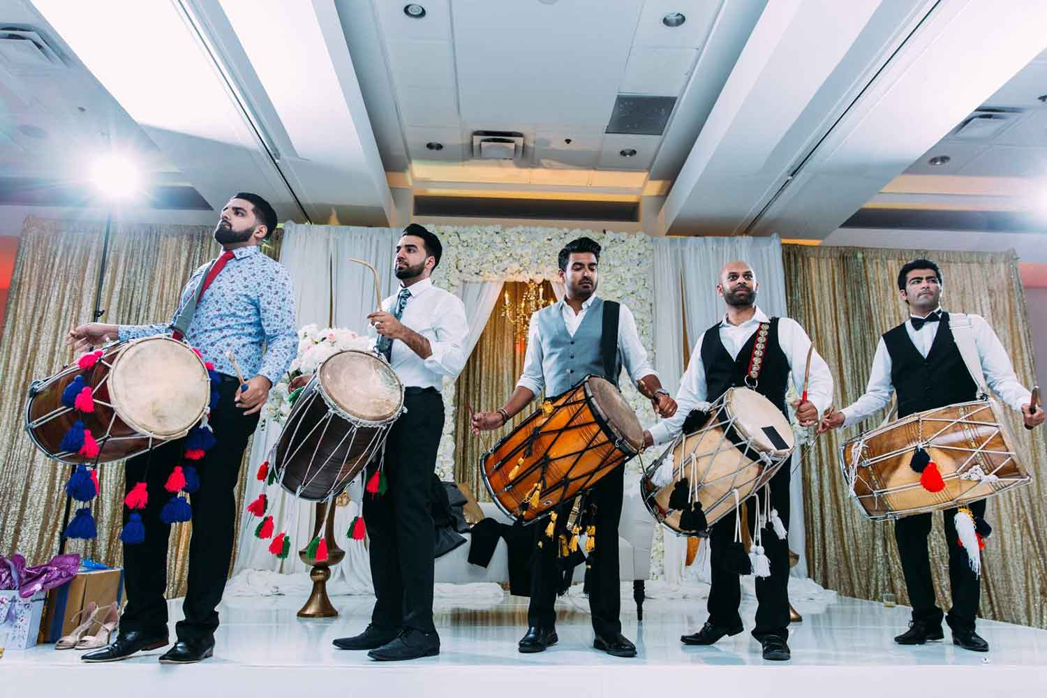 SILK EVENTS INDIAN WEDDING DJ LIGHTING DHOL BOSTON MA HILTON WOBURN