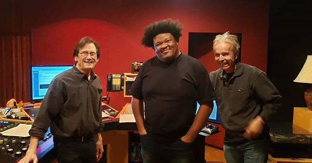 Here today with #berniegrundman, my musical director #billcunliffe and my fabulous mixer #joshconnolly to master my next Album coming out in August!