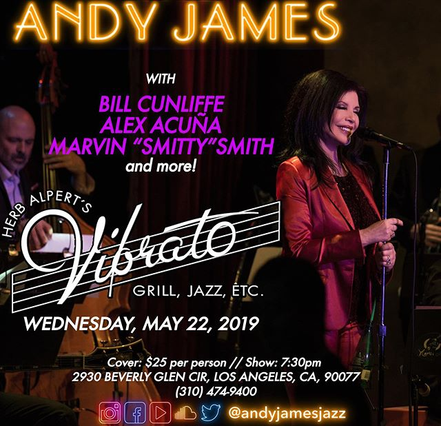 Weds May 22nd I will be performing live along with my amazing all star band at @vibratogrilljazz in #losangeles (info in my Bio)