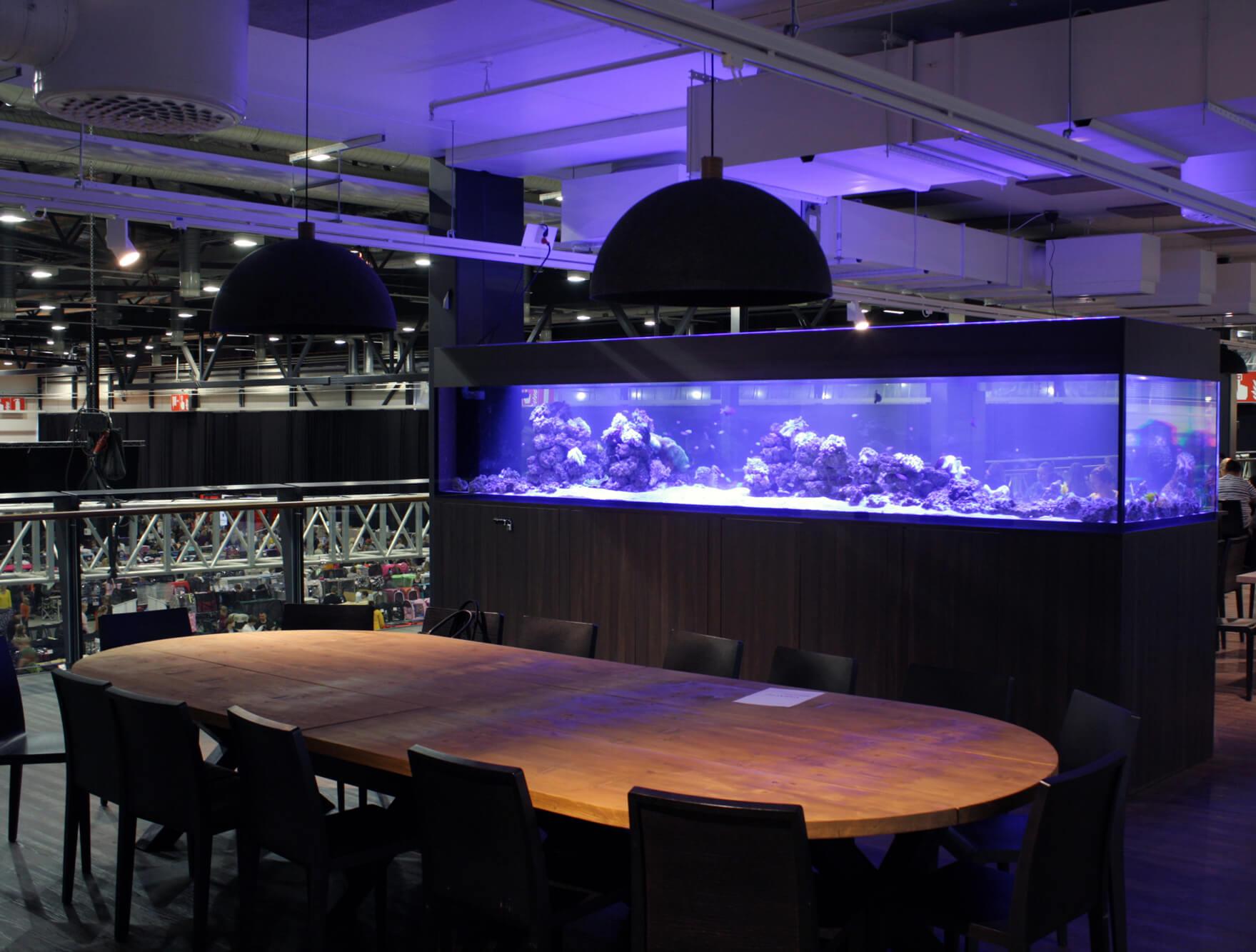 Siniriutta merivesiakvaario ravintola Barcelona