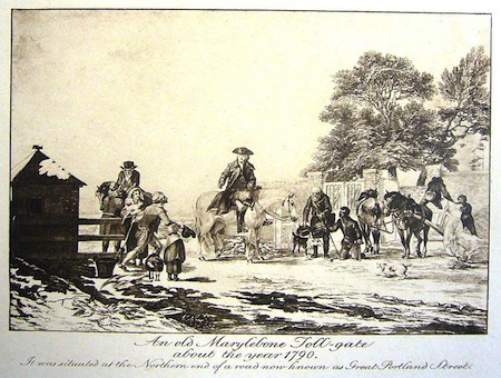 Marylebone Toll Gate at Great Portland Street in 1790