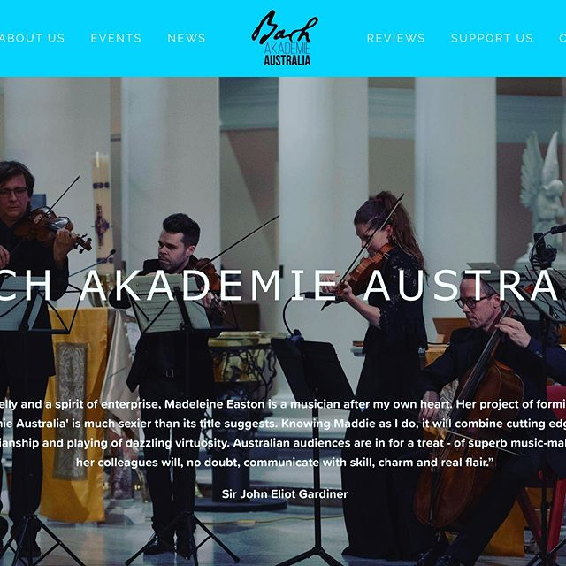 Check out our new revamped website at www.bachakademieaustralia.com.au containing all the info you need about the orchestra, choir & all upcoming concerts!