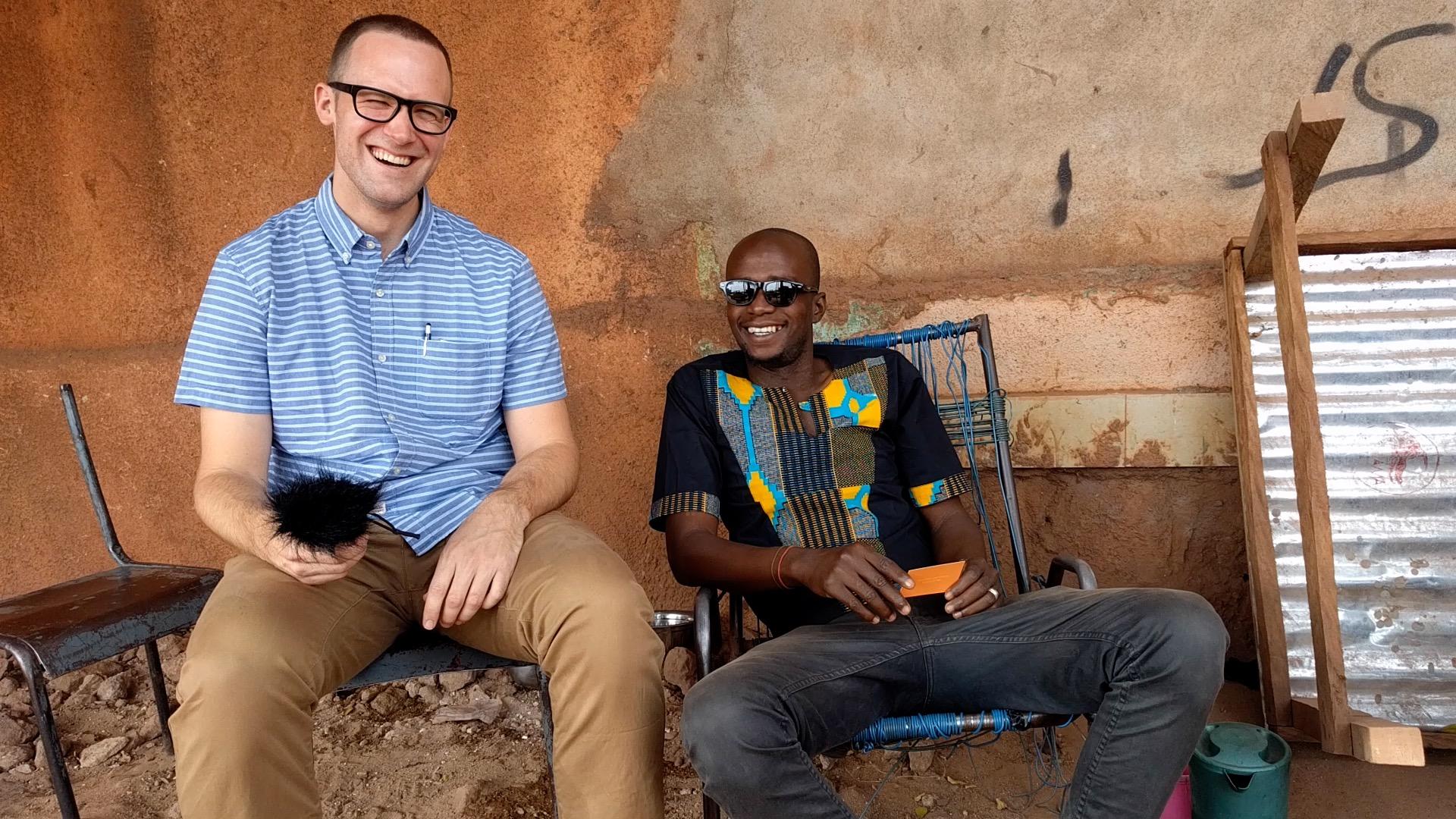 "Filming a ""Na baro kè"" episode for  An ka taa  in 2018 in Bamako, Mali."