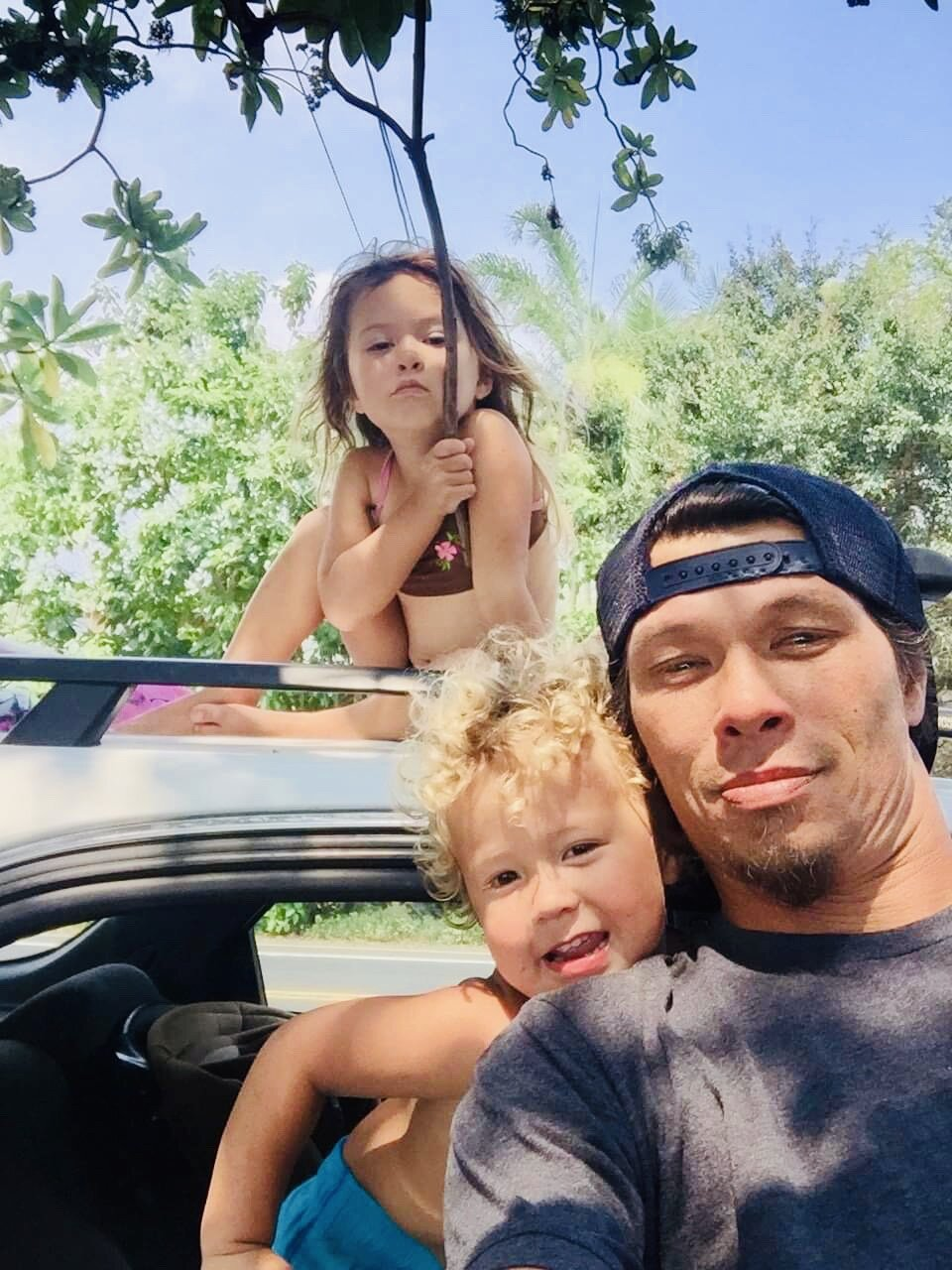 Gavin, Keikilani, Kaikoa - An awesome Ohana these guys live the waterman lifestyle.