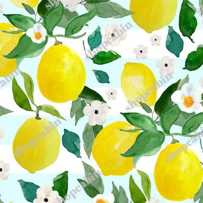 Lemons Light Blue Stripes.jpg