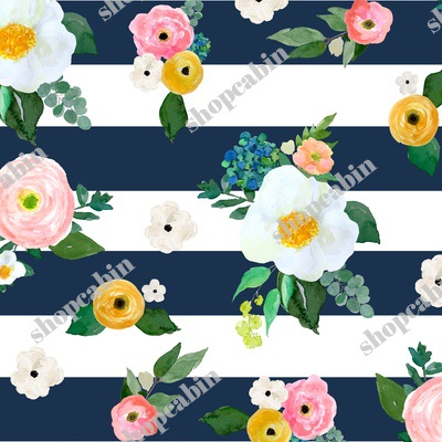 Spring Blooms Dark Blue Stripes.jpg