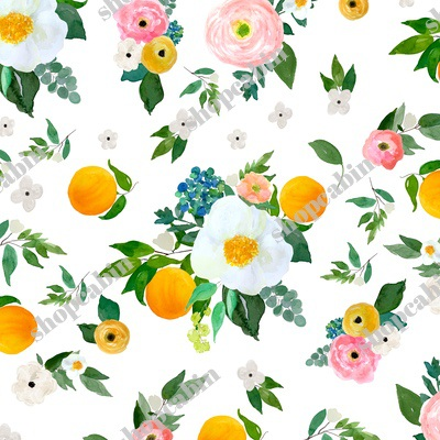 Spring Blooms with Oranges White.jpg