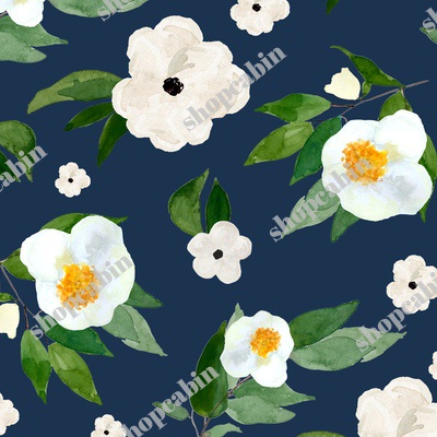 White Flowers Dark Blue.jpg