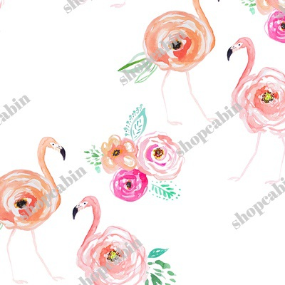 Flamingos With Florals.jpg