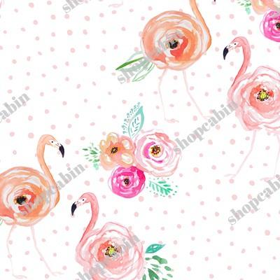 Floral Flamingos With Blush Pink Polka Dots.jpg