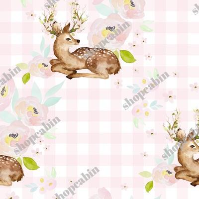 Blush Floral Deer Pink Gingham Back.jpg